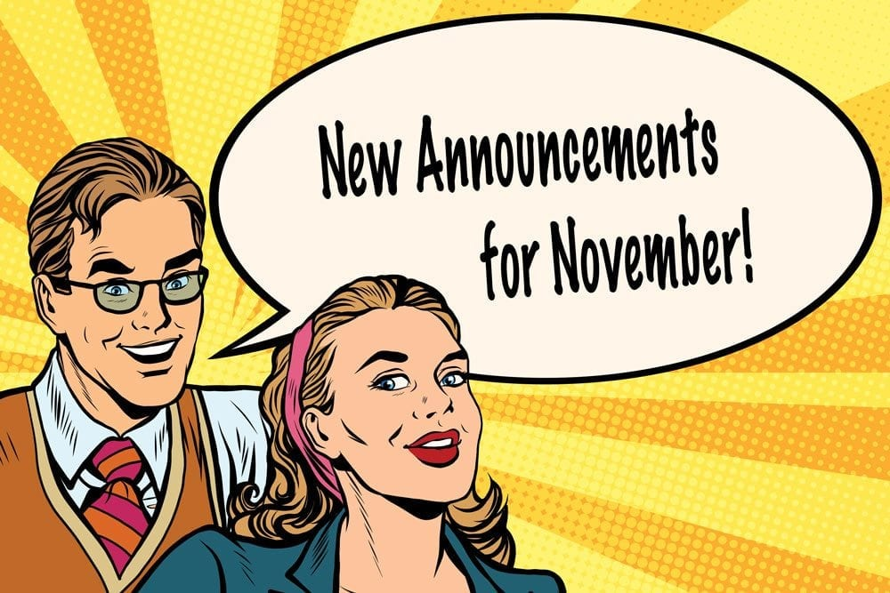 New Features For November