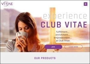 Vitae Global Homepage Preview powered by MarketPowerPRO