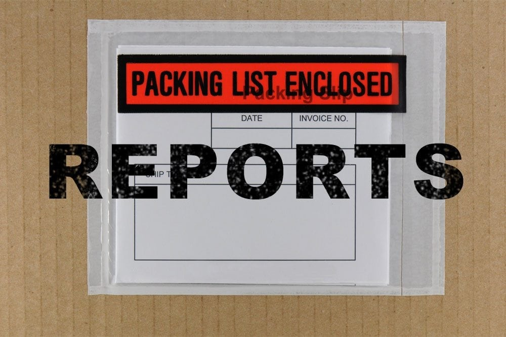 Packing Slip Reports Available!