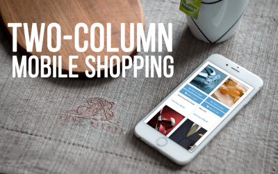 Two-Column Mobile Shopping View