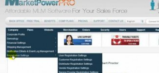 Company Profile in MarketPowerPRO by MLM Software provider MultiSoft Corporation