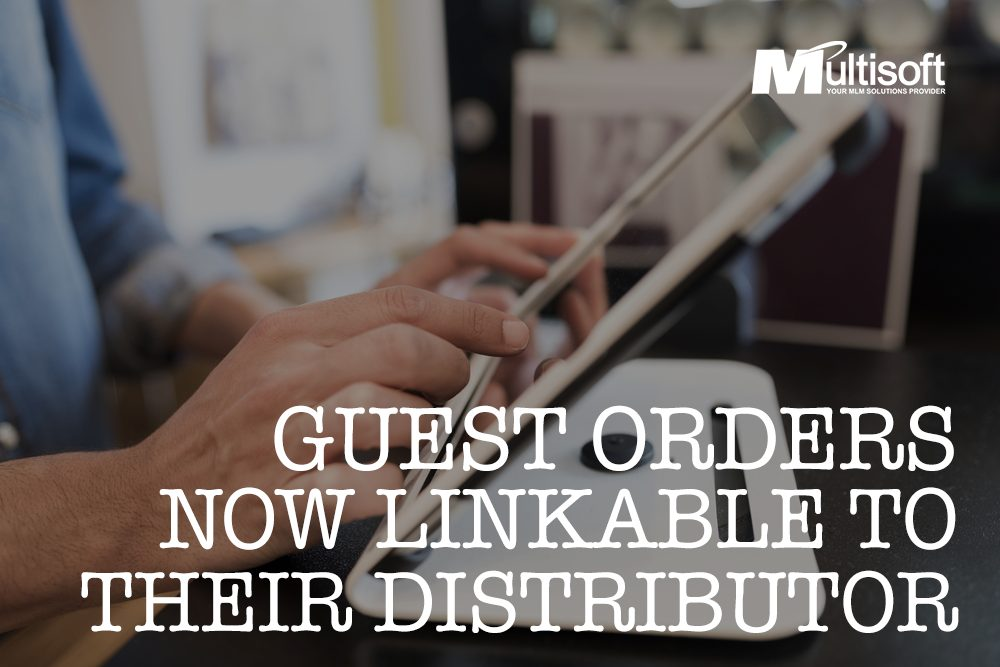 Guest Orders Linked to Their Distributor